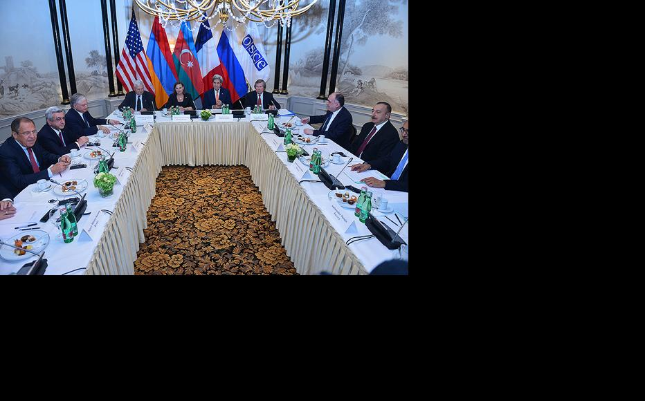 President Sargsyan and President Aliev took part in the discussions initiated in Vienna by the OSCE Minsk Group (Photo: President of Armenia/official)
