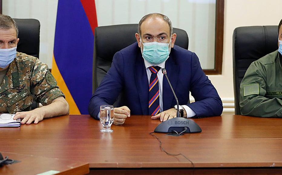 Nikol Pashinyan, PM of Armenia is meeting the leadership of the Armed Forces at the Ministry of Defense.
