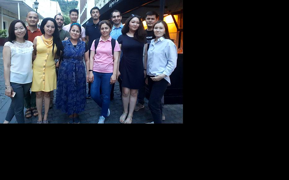Central Asian journalists and analysts in Tbilisi. (Photo: IWPR/CABAR)