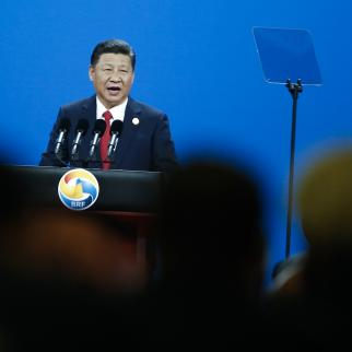Chinese Chinese President Xi Jinping attends the opening ceremony of the Belt and Road Forum on May 14, 2017 in Beijing, China.