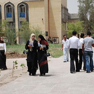 Uncertain future for University of Basra students. The arrival of big oil corporations in the resource-rich province has done little to provide skilled jobs for graduates. (Photo: Ali Abu Iraq)