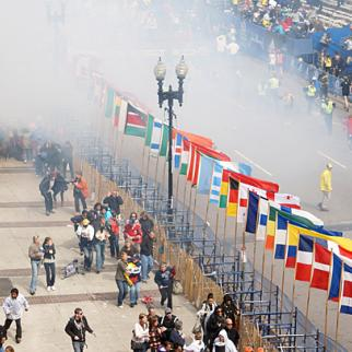 Aftermath of bomb attack on the Boston marathon. (Photo: Aaron Tang/Flickr)
