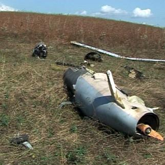 Wreckage of the pilotless drone plane brought down in Karabakh. (Photo: Nagorny Karabakh armed forces)