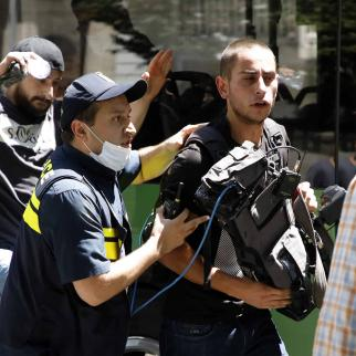 An angry mob injured more than 50 journalists during the planned Tbilisi Pride march.
