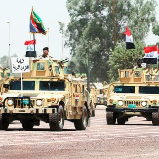 Iraqi troops look in good shape on parade in Baghdad in 2009. (Photo: Defenselink.mil/Wikimedia Commons)