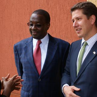 Chief Justice Willy Mutunga and British High Commissioner Dr Christian Turner. (Photo: IWPR)