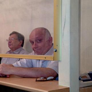 Akjanat Aminov, Serik Sapargali and Vladimir Kozlov (left to right) in court. (Photo: Facebook group in support of Kozlov and others)