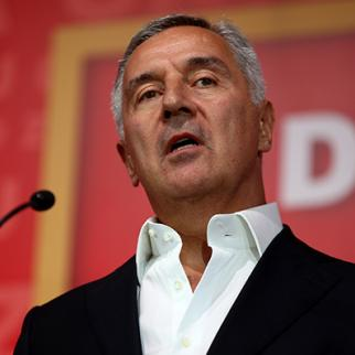 President of Montenegro and ruler of the Democratic party of Socialists (DPS) Milo Djukanovic gives a speech to following the elections on August 30, 2020 in Podgorica, Montenegro. (Photo: Filip Filipovic/Getty Images)