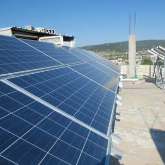 Solar panels have become a common feature on Idlib's rooftops. (Photo: Sonia al-Ali)