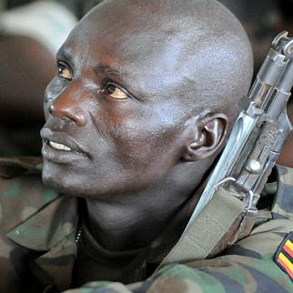 A member of the Ugandan military operation to track the LRA: the rebel group as well as the government's own forces are the source of weapons still circulating in northern Uganda. (Photo: USARAF/Flickr)