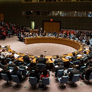 The UN Security Council meets in New York. It is unlikely that the ICC will get the international support it needs. (Photo: Andrew Burton / Getty Images)