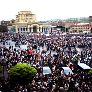 Republican Party rally in Yerevan, May 4. (Photo: Inna Mkhitaryan)